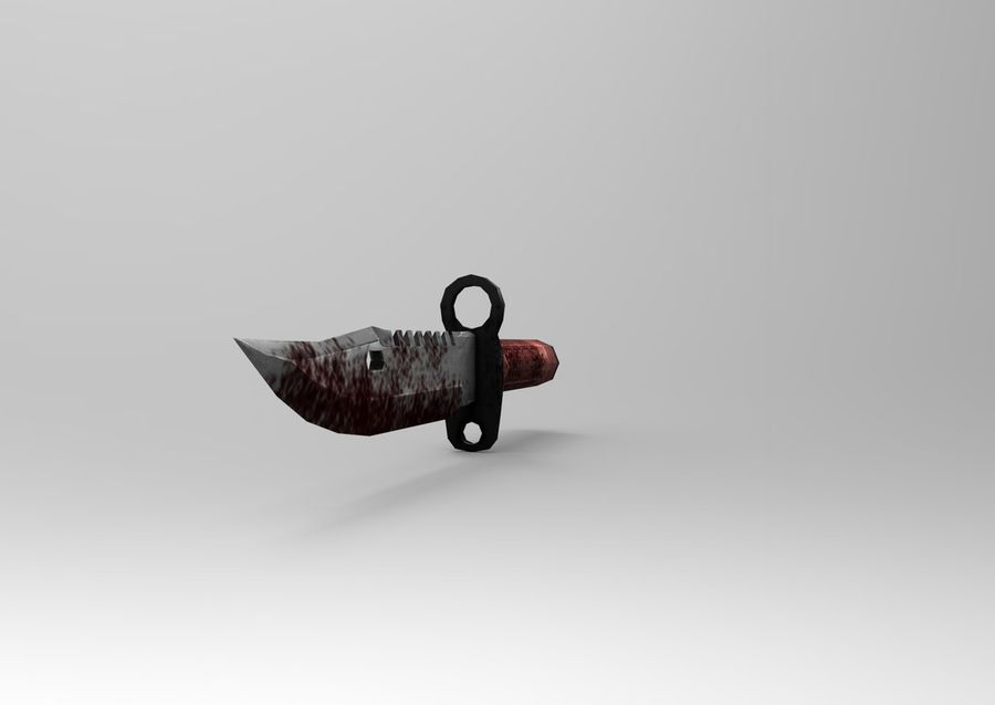 knife low poly game ready royalty-free 3d model - Preview no. 11