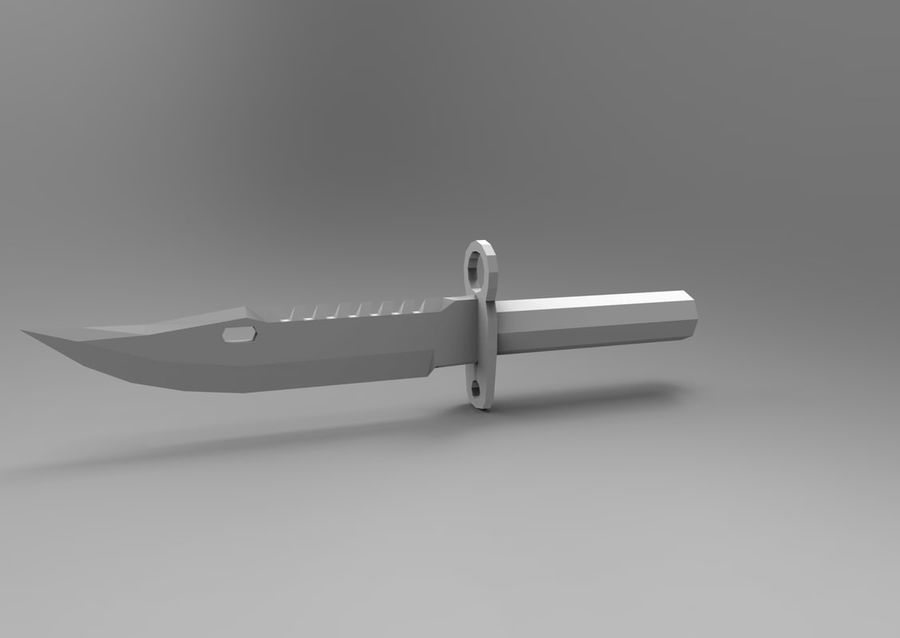 knife low poly game ready royalty-free 3d model - Preview no. 19