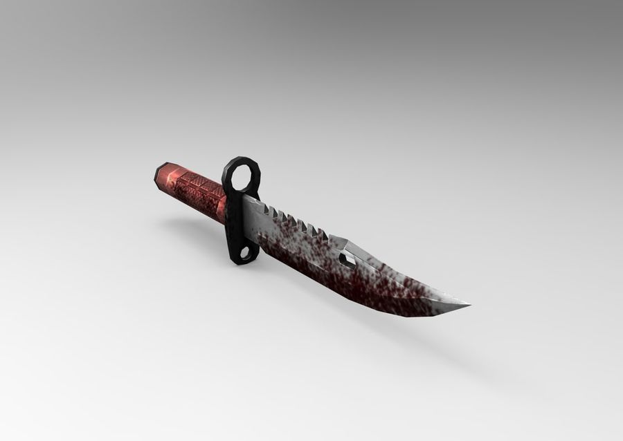 knife low poly game ready royalty-free 3d model - Preview no. 9