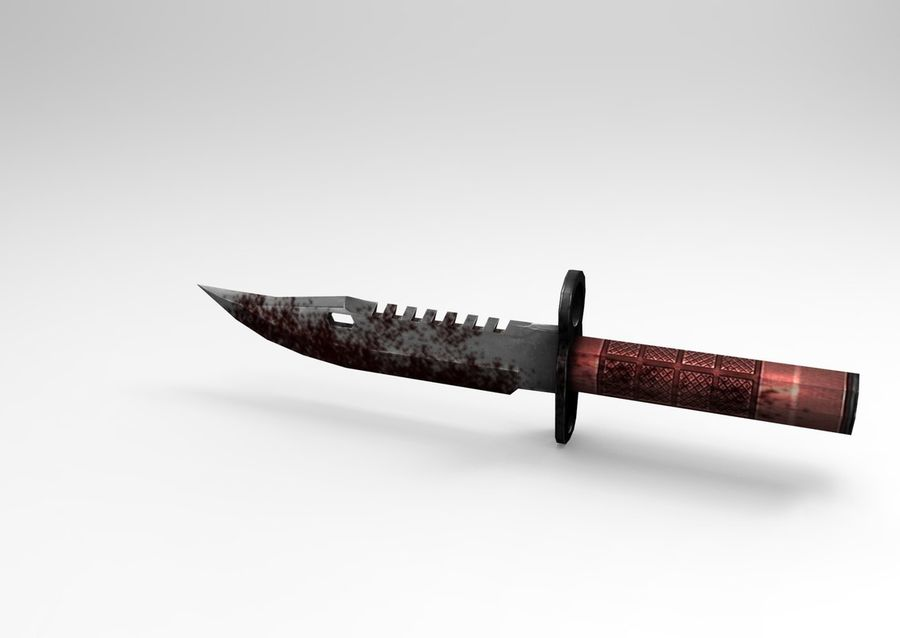 knife low poly game ready royalty-free 3d model - Preview no. 3