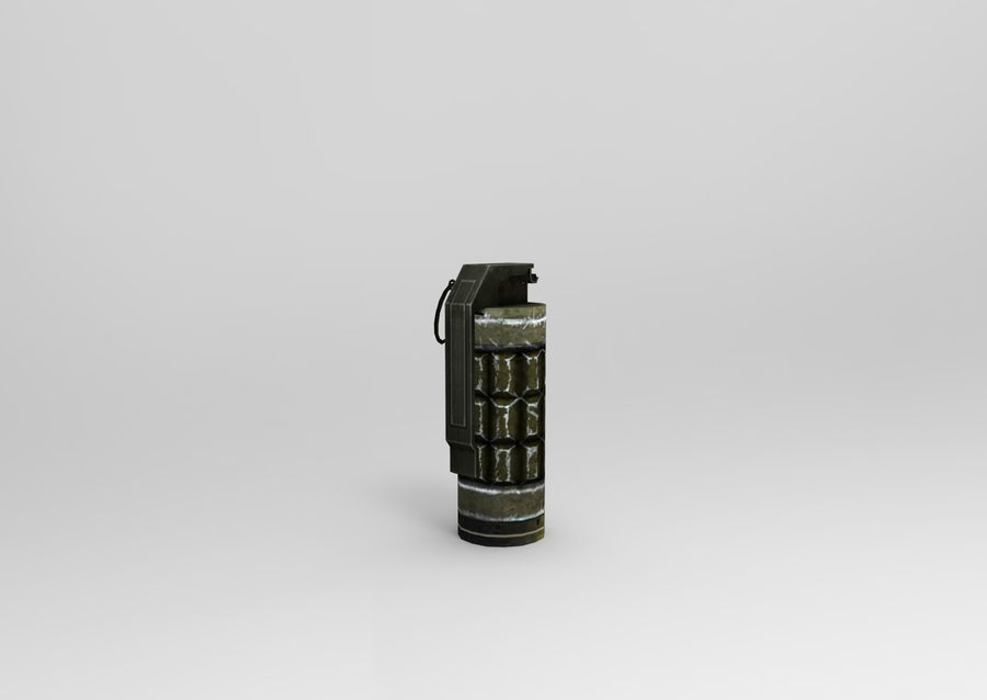 grenade basse poly jeu prêt royalty-free 3d model - Preview no. 4