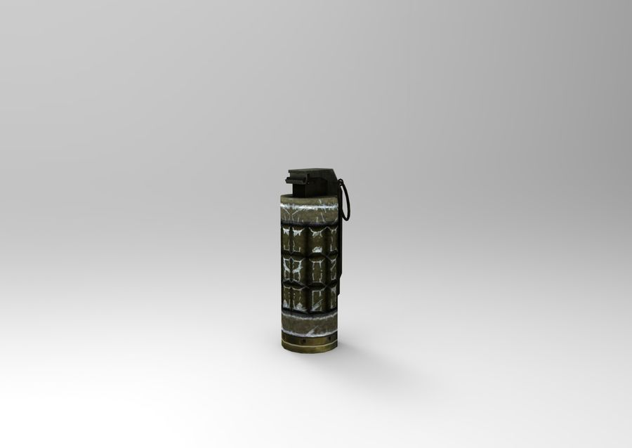 grenade basse poly jeu prêt royalty-free 3d model - Preview no. 7