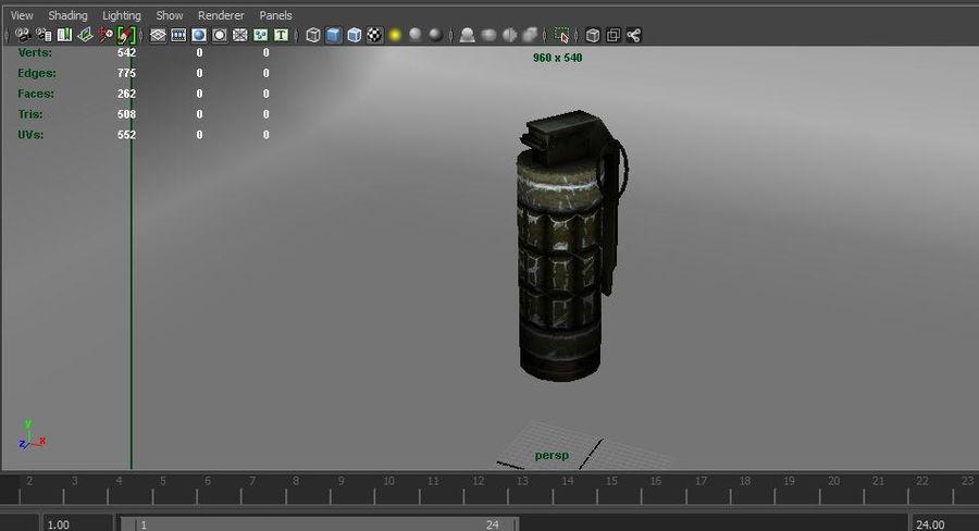 grenade basse poly jeu prêt royalty-free 3d model - Preview no. 18