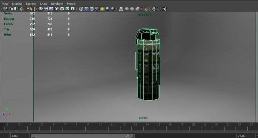 grenade basse poly jeu prêt royalty-free 3d model - Preview no. 17