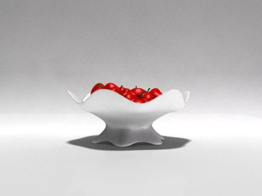 Apple Vase royalty-free 3d model - Preview no. 2