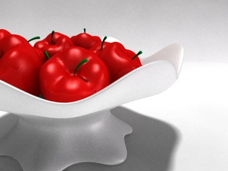 Apple Vase royalty-free 3d model - Preview no. 1
