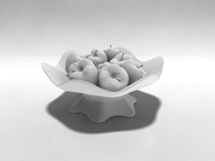 Apple Vase royalty-free 3d model - Preview no. 3