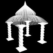 Садовая пагода 3d model