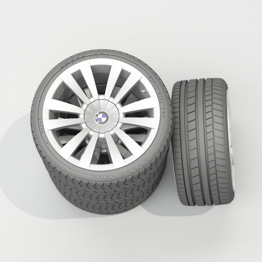 Car Wheels royalty-free 3d model - Preview no. 2
