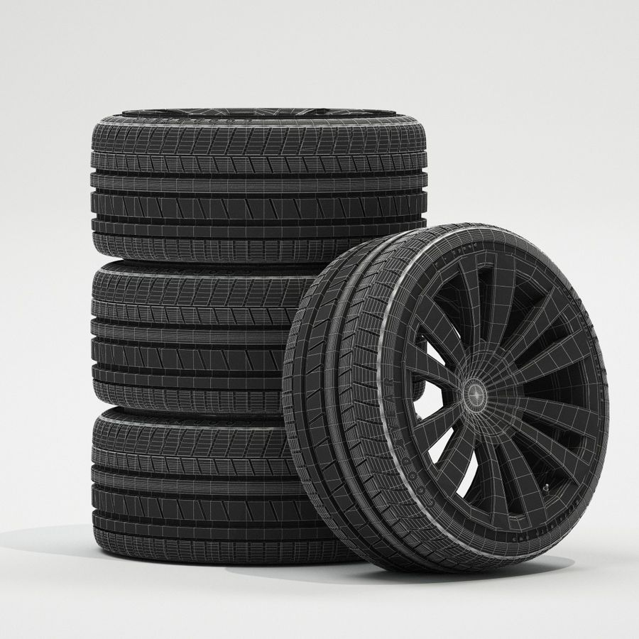 Ruedas de coche royalty-free modelo 3d - Preview no. 3