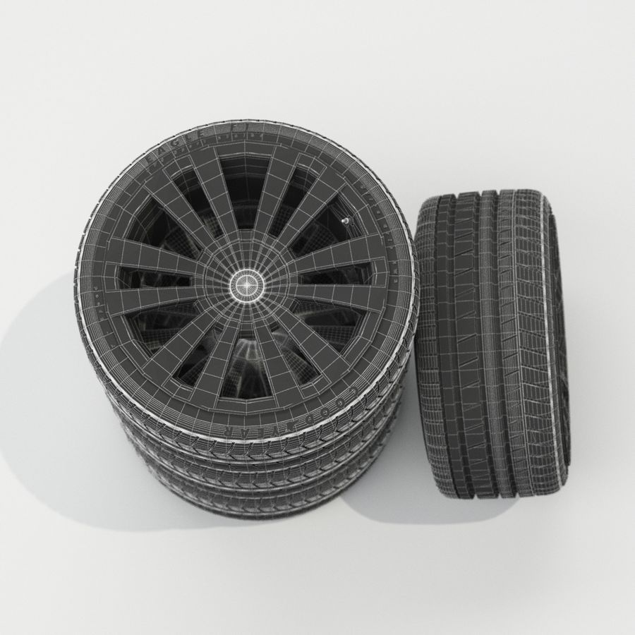 Car Wheels royalty-free 3d model - Preview no. 4