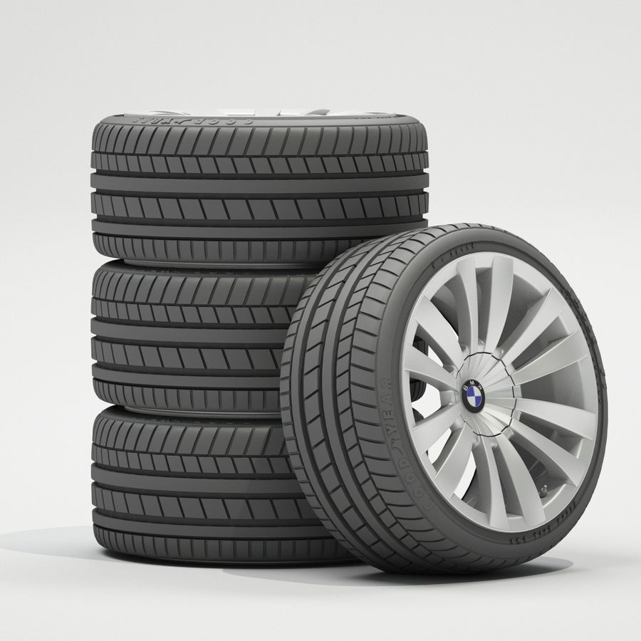 Car Wheels royalty-free 3d model - Preview no. 1