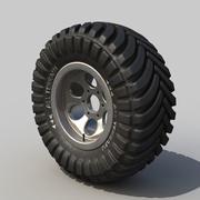 Koło terenowe 3d model