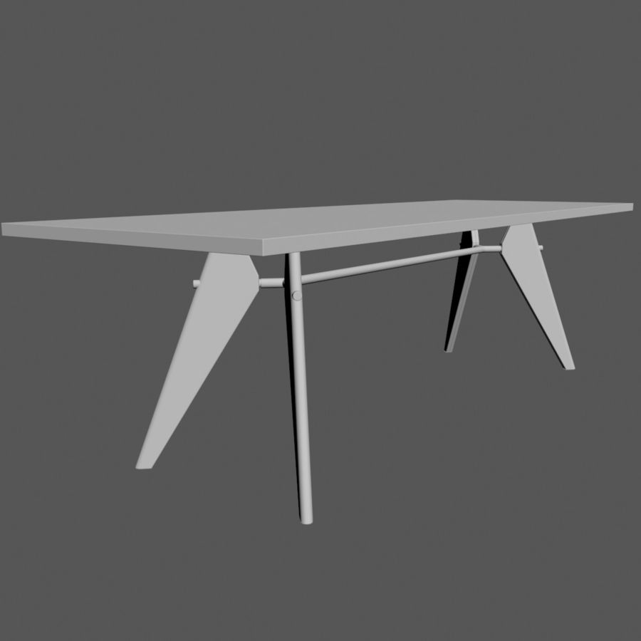 Em Table royalty-free 3d model - Preview no. 3