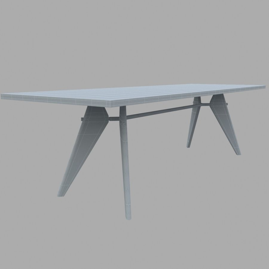 Em Table royalty-free 3d model - Preview no. 2