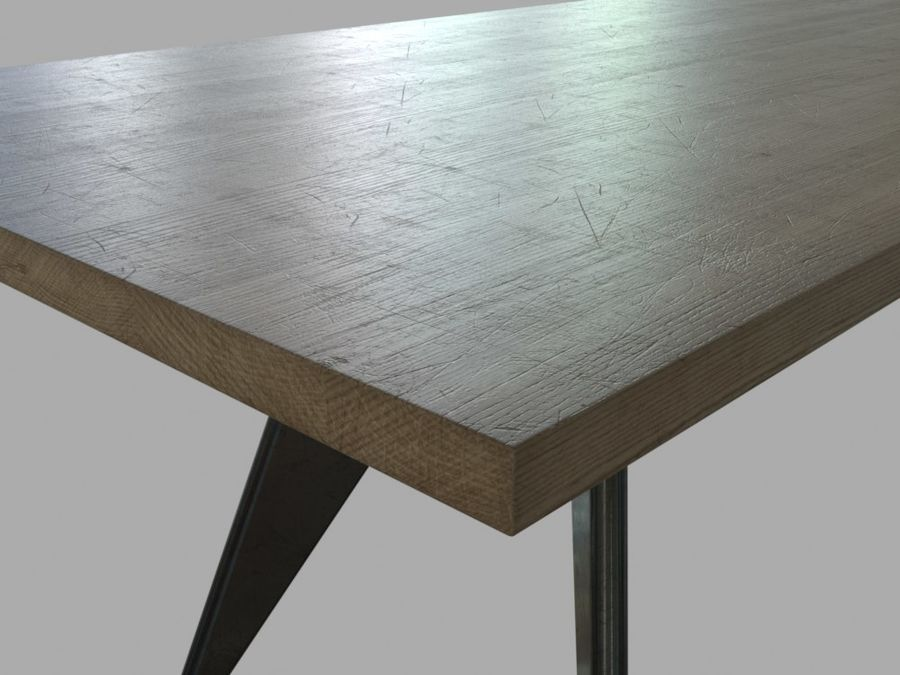 Em Table royalty-free 3d model - Preview no. 10