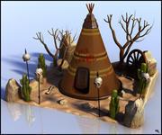 Indian Teepee Cartoon 3d model