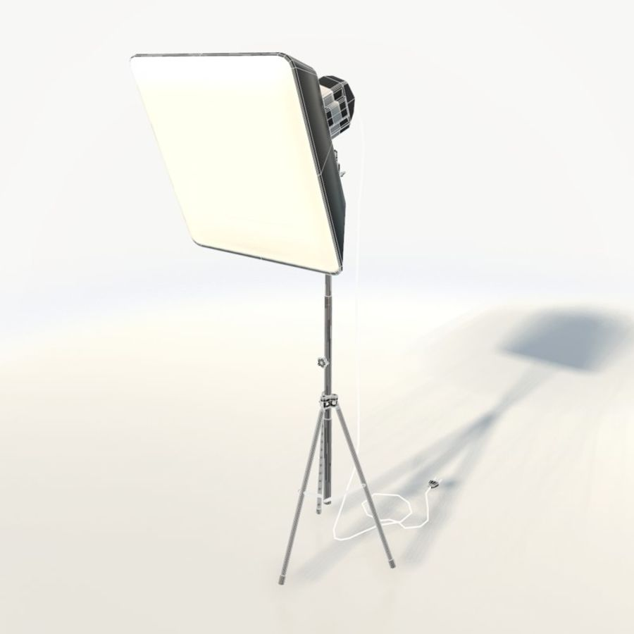 Lampada da studio professionale softbox light royalty-free 3d model - Preview no. 3
