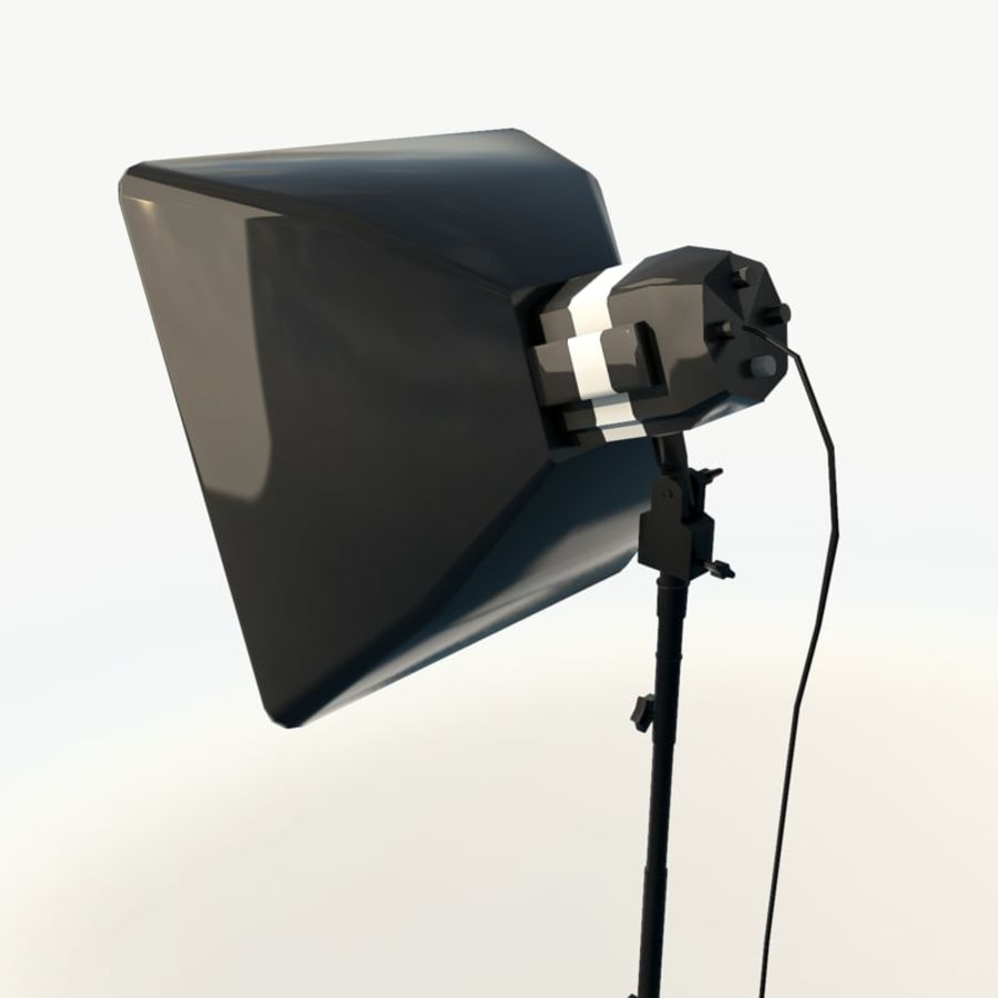 Lampada da studio professionale softbox light royalty-free 3d model - Preview no. 8