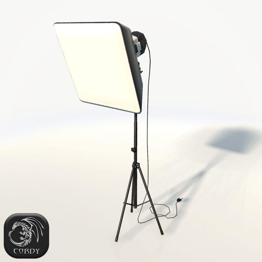 Lampada da studio professionale softbox light royalty-free 3d model - Preview no. 1