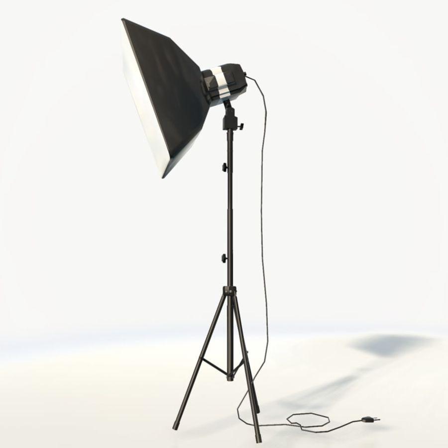 Lampada da studio professionale softbox light royalty-free 3d model - Preview no. 6