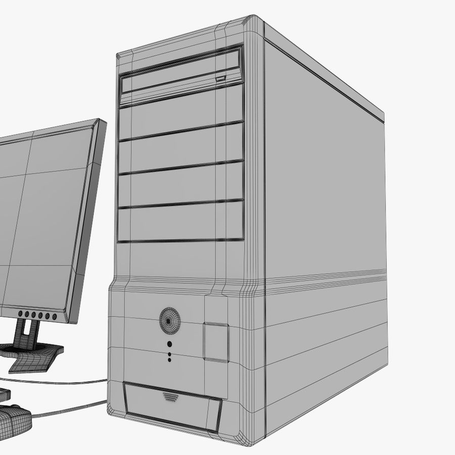 ordinateur de bureau royalty-free 3d model - Preview no. 10
