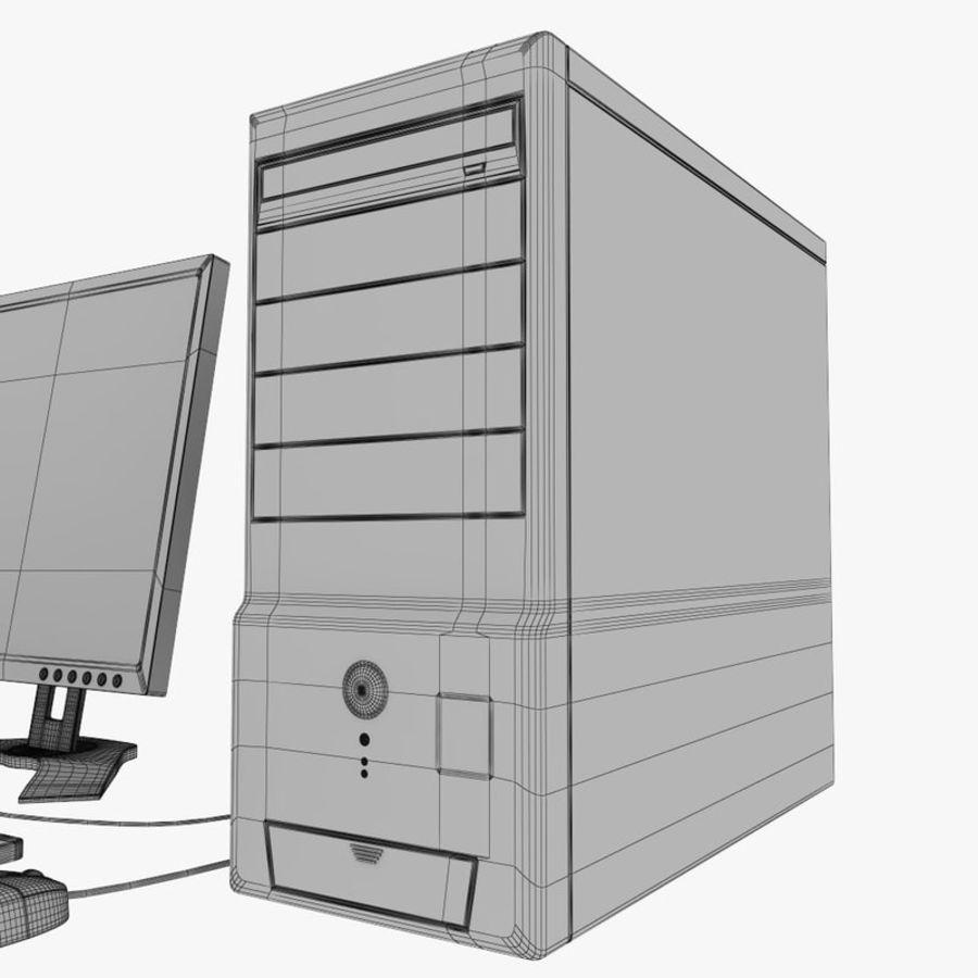 デスクトップコンピューター royalty-free 3d model - Preview no. 10
