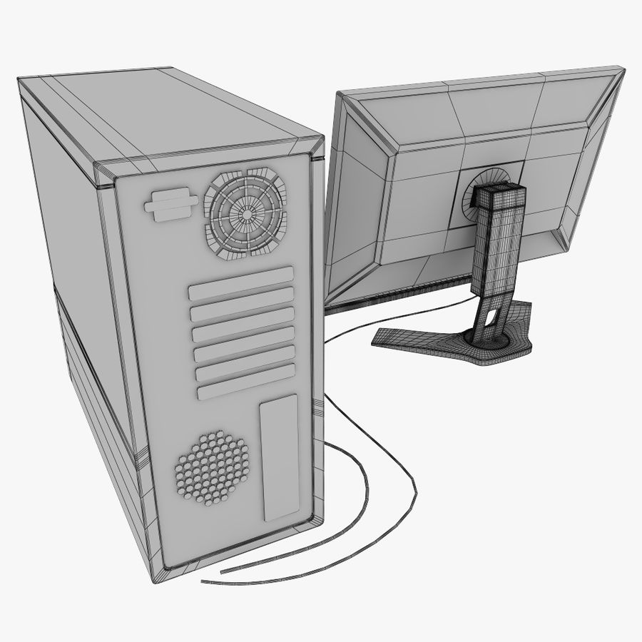 ordinateur de bureau royalty-free 3d model - Preview no. 12