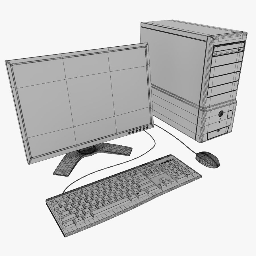 ordinateur de bureau royalty-free 3d model - Preview no. 11