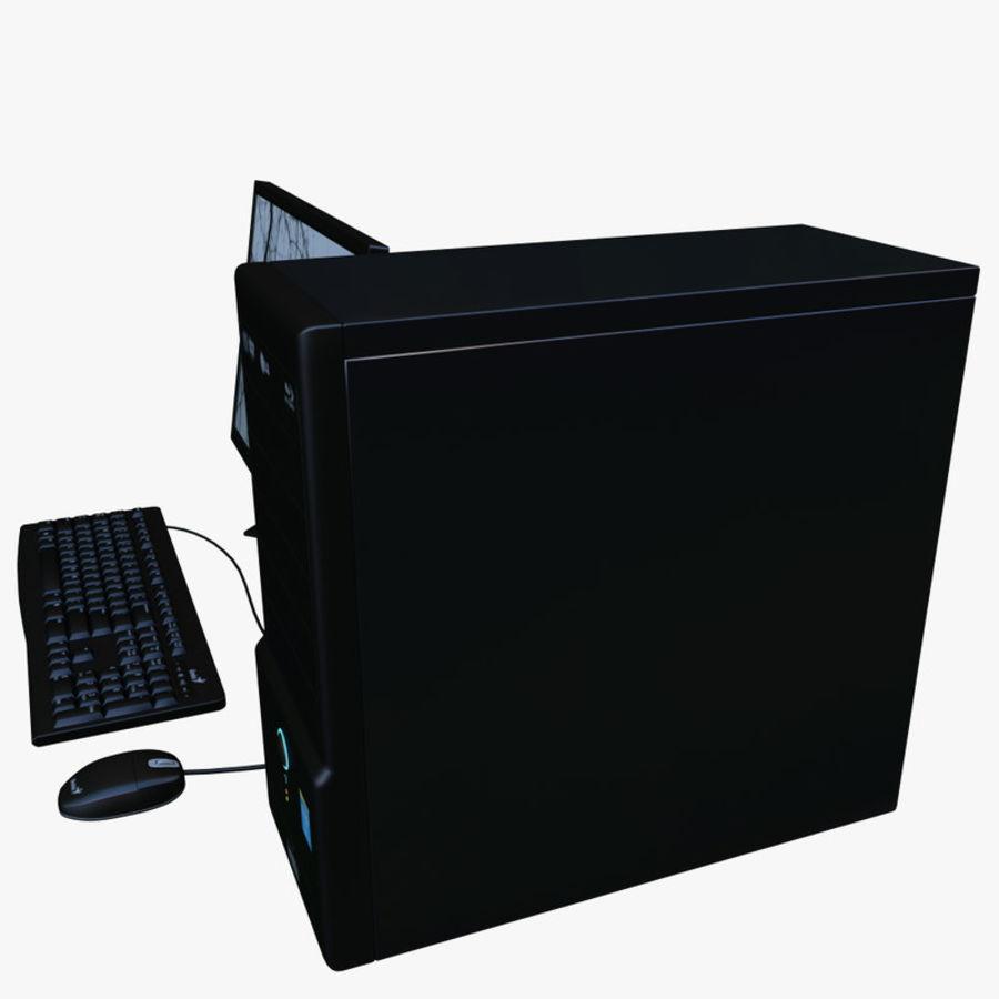 デスクトップコンピューター royalty-free 3d model - Preview no. 3