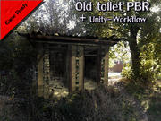 Alte Toilette PBR 3d model