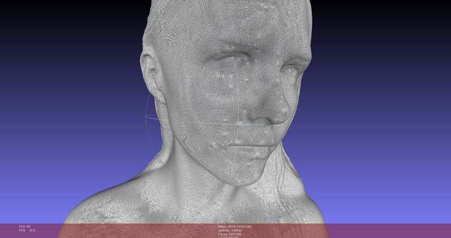 Female Bust royalty-free 3d model - Preview no. 4