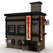 Desenhos animados pequenos do hotel 3d model