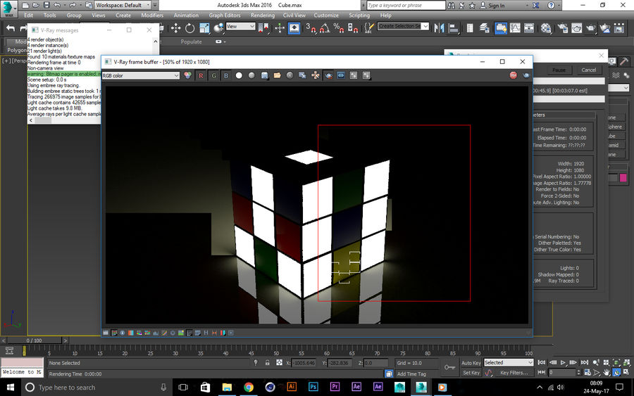 CUBE royalty-free 3d model - Preview no. 3