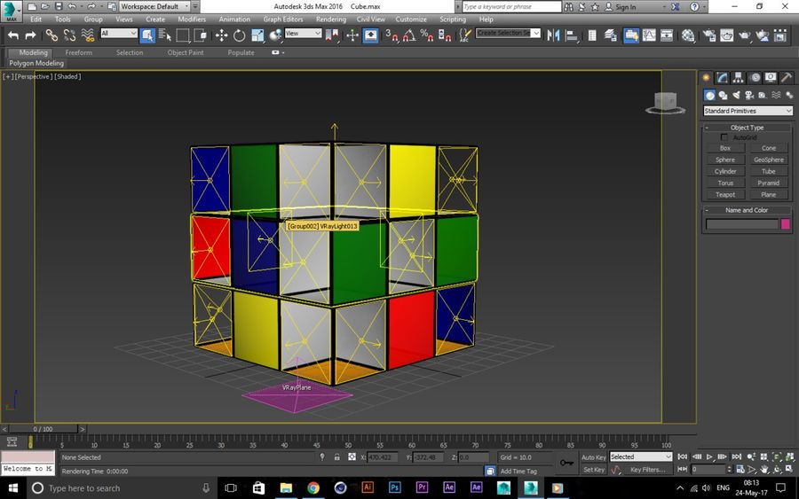 CUBE royalty-free 3d model - Preview no. 5