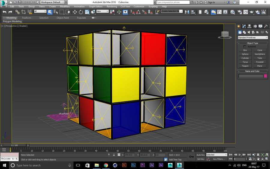 CUBE royalty-free 3d model - Preview no. 2