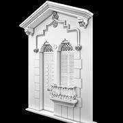 フロントクラシックドア。 3d model