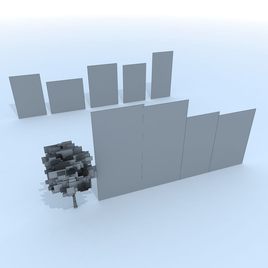 träd royalty-free 3d model - Preview no. 12