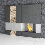 モダンな暖炉 3d model