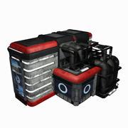 Sci Fi City Building Game Asset 11 - VR AR Sci-Fi Pro Model 3d model