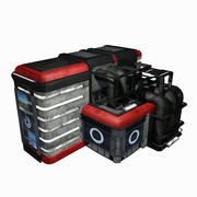 Sci Fi City Building Game Asset 11 - Modelo VR AR Sci-Fi Pro modelo 3d