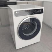 洗衣机LG F14U1JBS2 3d model