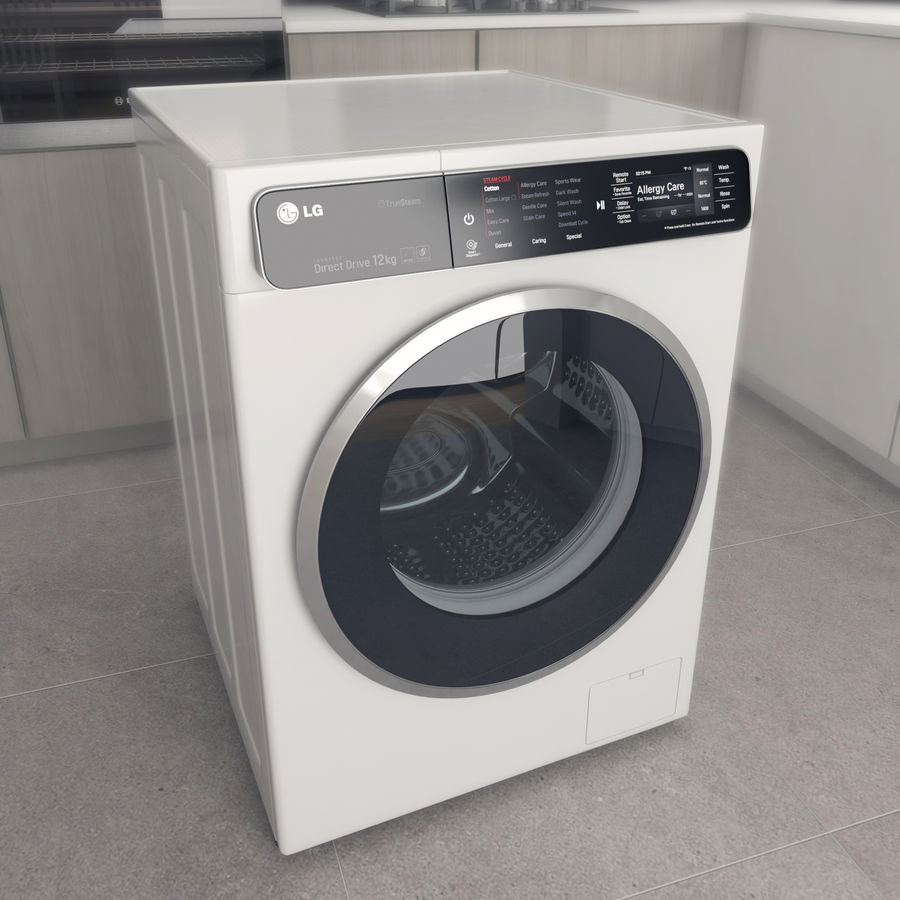 Çamaşır makinesi LG F14U1JBS2 royalty-free 3d model - Preview no. 1