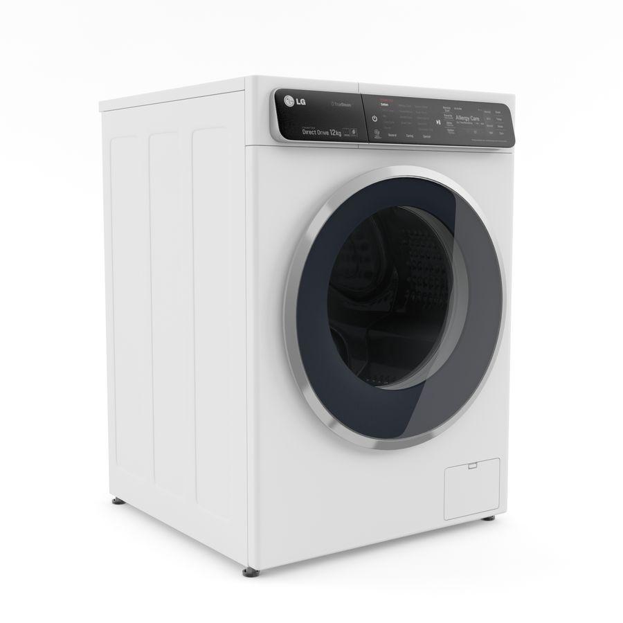 Çamaşır makinesi LG F14U1JBS2 royalty-free 3d model - Preview no. 2