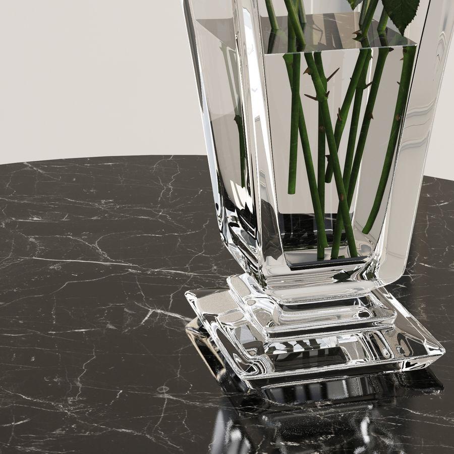 Vazoda 7 gül royalty-free 3d model - Preview no. 4