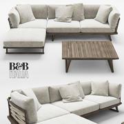 B&B Italia Gio sofa table 3d model