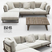 B&B Italia Gio sofa table 3d model