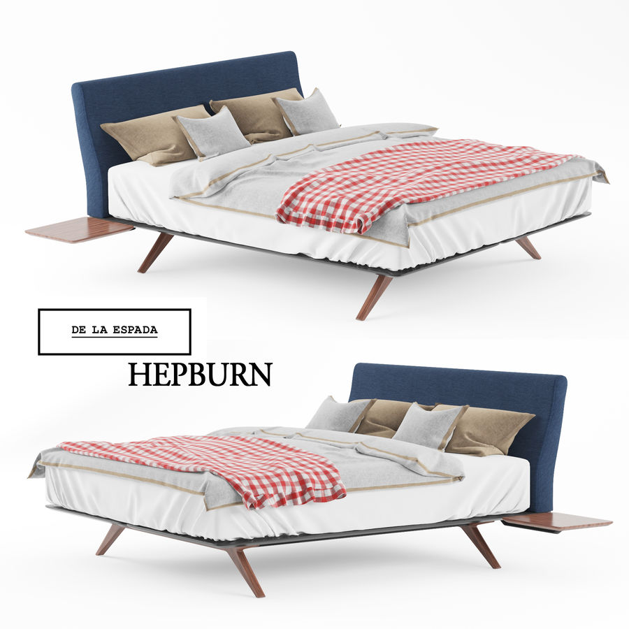 BED de la espada hepburn royalty-free 3d model - Preview no. 1