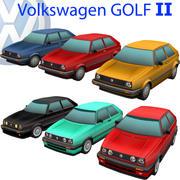 Volkswagen Golf II 3d model