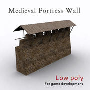 Medieval fortress wall 3d model